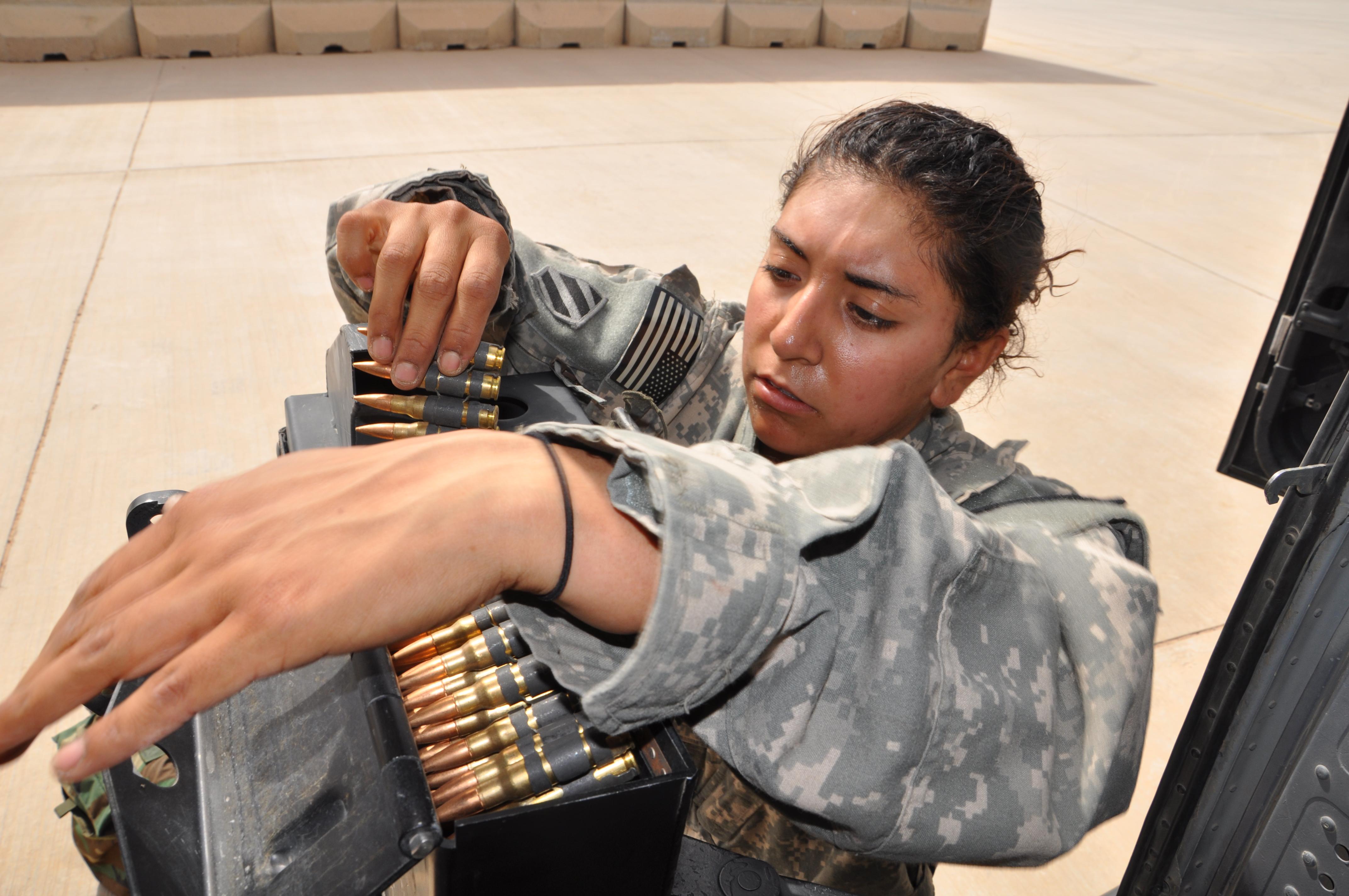 Women nude army girls military black